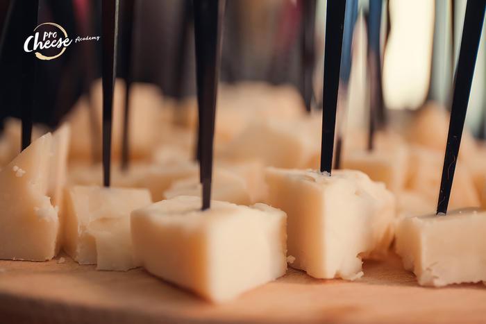 Приклад дегустації твердого сиру.
