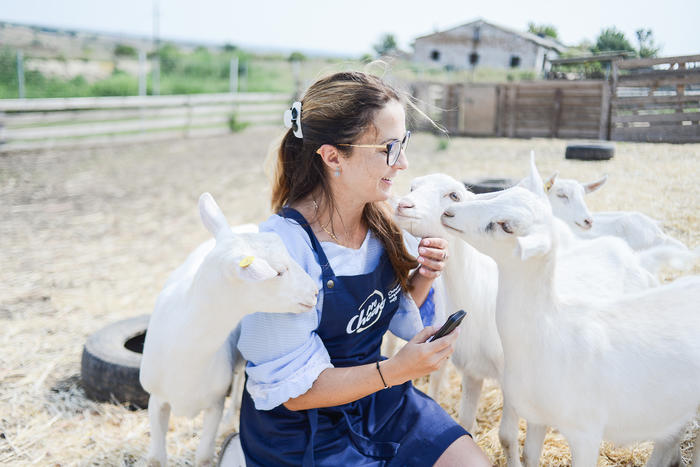 Оксана Чернова на козиній фермі «Українець Агро».